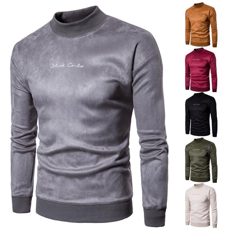 Мужской новый эксклюзивный тканевый свитер, Модный пуловер, повседневный трендовый свитер