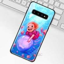 Чехол Ponyo On The Cliff аниме для samsung Galaxy S10 S10e S9 S8 Plus A70 A50 A30 Note 9 10 + 5G чехол из закаленного стекла для телефона(Китай)