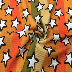 Hot Sell Digital Printed Stretch  Halloween Printed Bullet Fabric Hairbow By The Yard 230gsm Great Texture