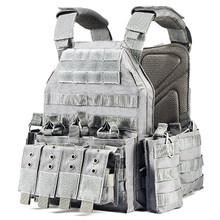 YAKEDA 1000D нейлоновая пластина Перевозчик тактический жилет на открытом воздухе Военная тактика аксессуары-хаки/Камуфляж/серый(Китай)