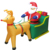 2019 Custom Outdoor Christmas decoration Inflatable Santa Claus on Sleigh Reindeer