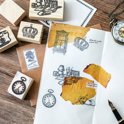 Wooden Stamp Rubber Signet DIY stamps scrapbooking for Planner Card Making