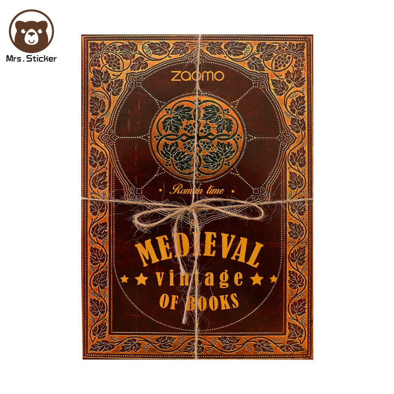 Ephemera Packing Medieval Vintage of Books Material Paper Retro DIY Decorative Scrapbook Wrapping Gift Box Base Paper