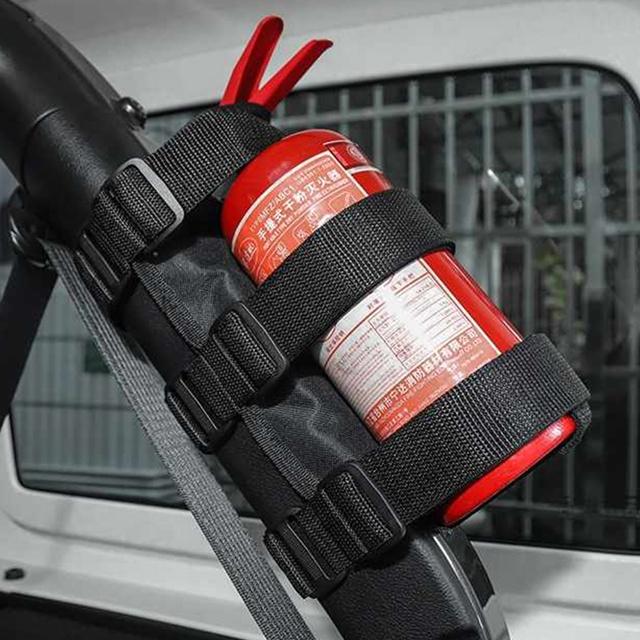 Регулируемый нейлоновый роликовый держатель для автомобильного огнетушителя 3 фунта для Jeep Wrangler JK JKU