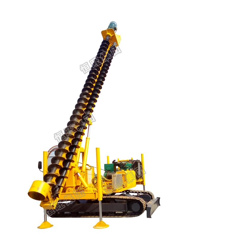 HWD8Y model crawler post driver with 360 degree Hydraulic 8M long spiral pile driver