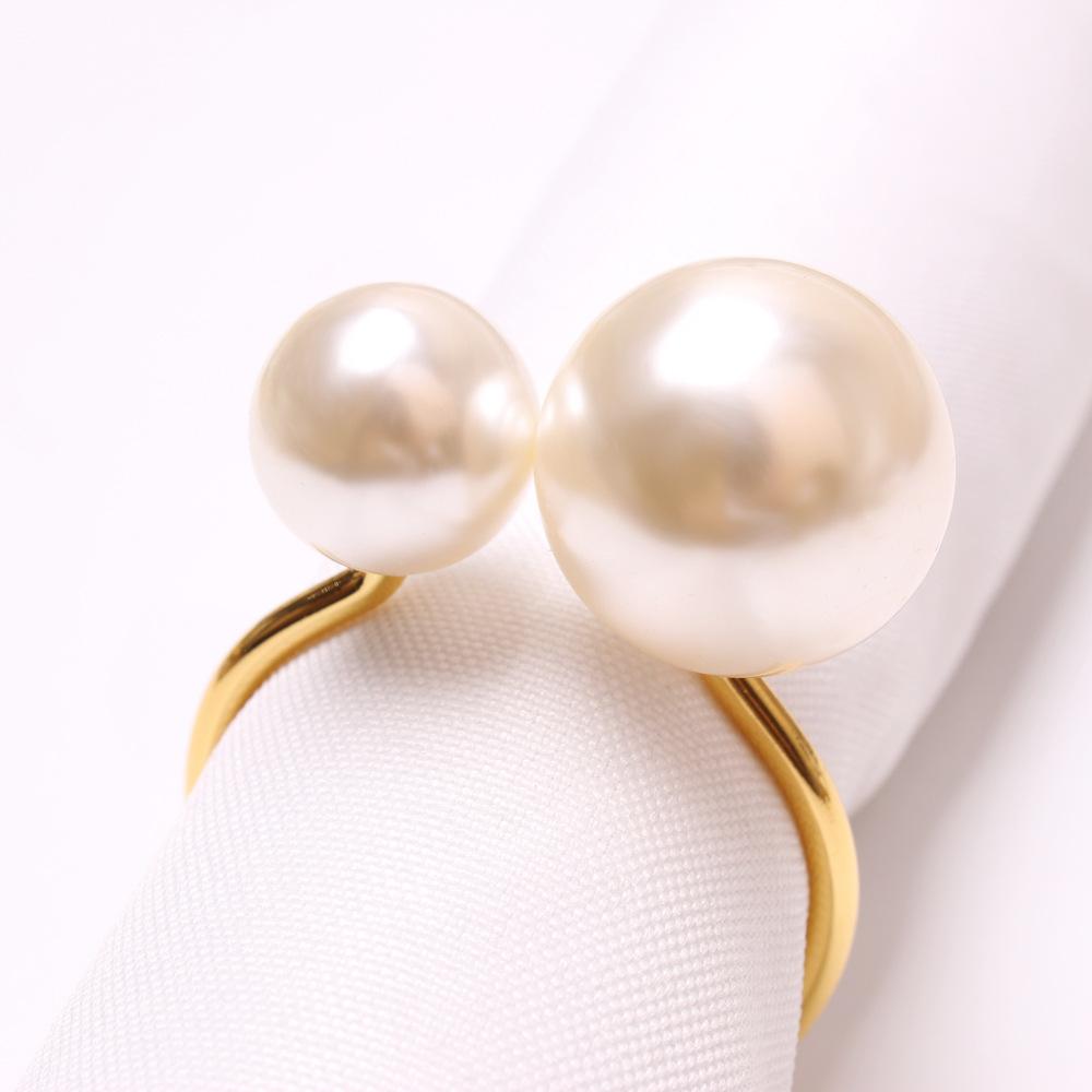 Недорогое кольцо для салфеток с жемчугом для кухни оптом роскошные свадебные кольца для салфеток золотое украшение для стола
