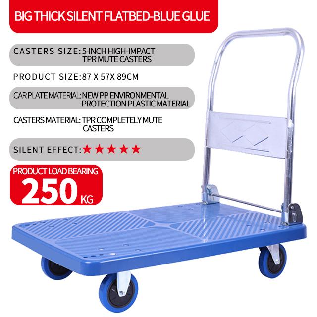 Plastic platform hand trolley Truck Hand pushed platform car