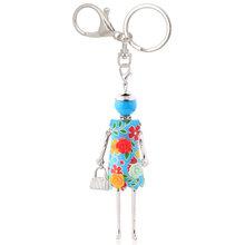 Выразительный красивый брелок, Очаровательная цепочка для ключей в подарок, ювелирное изделие в виде цветка, 2020, очаровательные модные женс...(Китай)