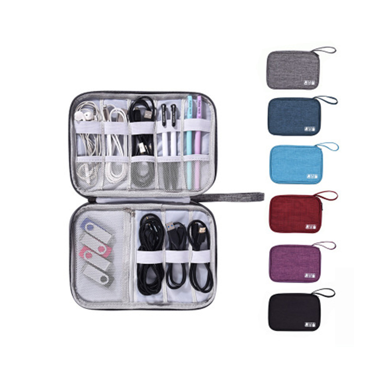 Большая вместительная сумка-Органайзер для кабеля из полиэстера, аксессуары для электроники, чехлы на заказ, дорожная цифровая сумка для хранения