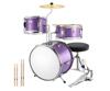 Purple 3 pic drum set