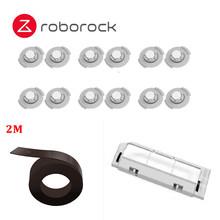 2019 Roborock S6 S50 Оригинал Roborock запасные наборы для очистки основной щетки с магнитной полосой 12 шт фильтры резервуара для воды(Китай)