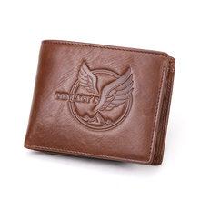 CONTACT'S новый кошелек из 100% натуральной кожи, мужской маленький кошелек, короткие мужские сумки для денег, Двойные кошельки, высококачественн...(Китай)