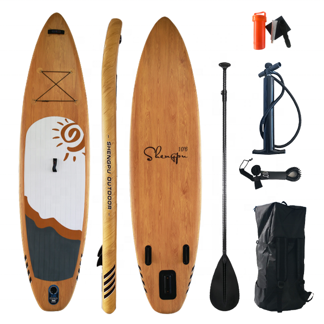 Высокое качество, оптовая продажа, дешевая двухслойная доска для сапсерфинга из ПВХ, надувная доска для серфинга