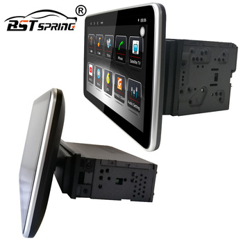 Bosstar Android 1 Din Adjustable 10 Inch Touch Screen Universal Car Radio Stereo Player with Gps