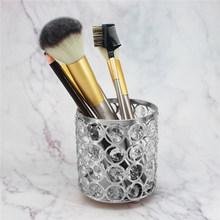 Хрустальная Кисть для макияжа, ведро для хранения скандинавских бровей, карандаш из бисера, ювелирный стол, органайзер, коробка, контейнер д...(Китай)