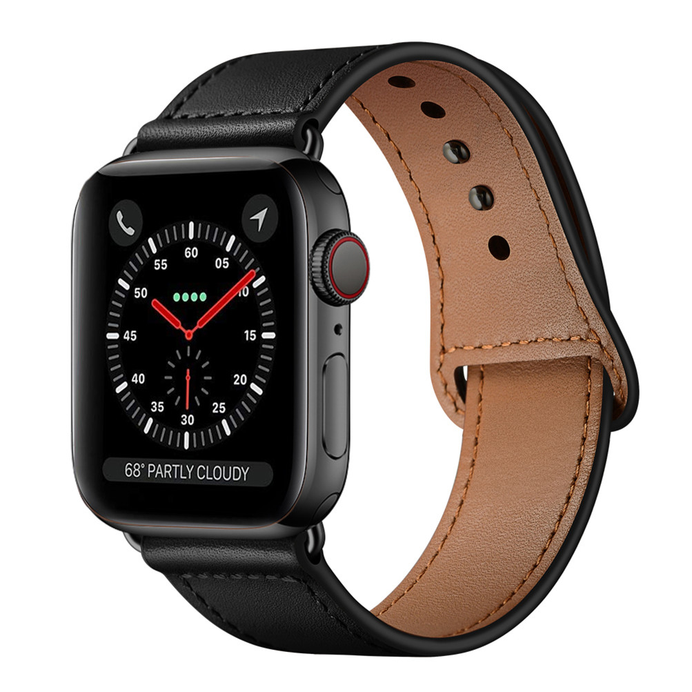 Hot sale WatchBand 42mm 44 mm Genuine Leather Watch Band Strap for apple watch Series 1 2 3 4
