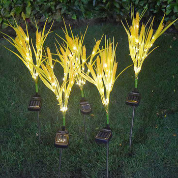 Solar led luminous wheat ear lamp plug reed lamp outdoor waterproof decoration garden lawn park landscape lamp