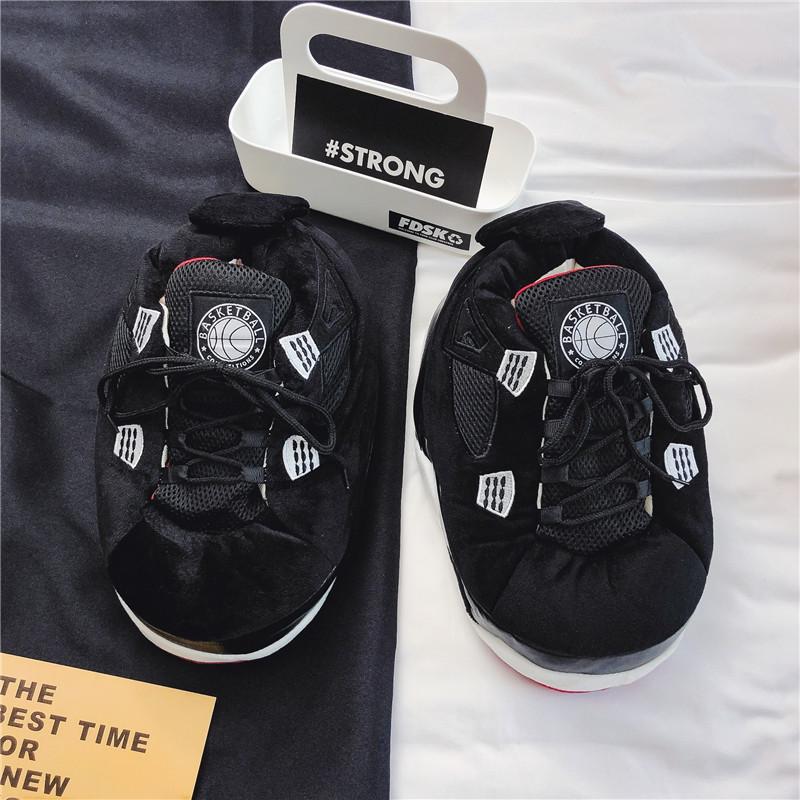 Фирменные новые стильные хлопковые тапочки женская домашняя обувь на толстой подошве с хлопковой подкладкой Jordan; Сезон осень-зима; Домашняя обувь для пары