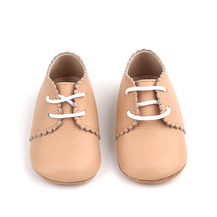 Free Sample In Here Lace-Up Custom Logo Factory Wholesale Soft Sole Baby Oxford Shoes