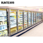 Supermarket Glass door drink refrigerator/open chiller for beverage