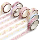 Craft Paper Rubber Custom Printed Craft Paper Decorative Color Gold Foil Washi Tape