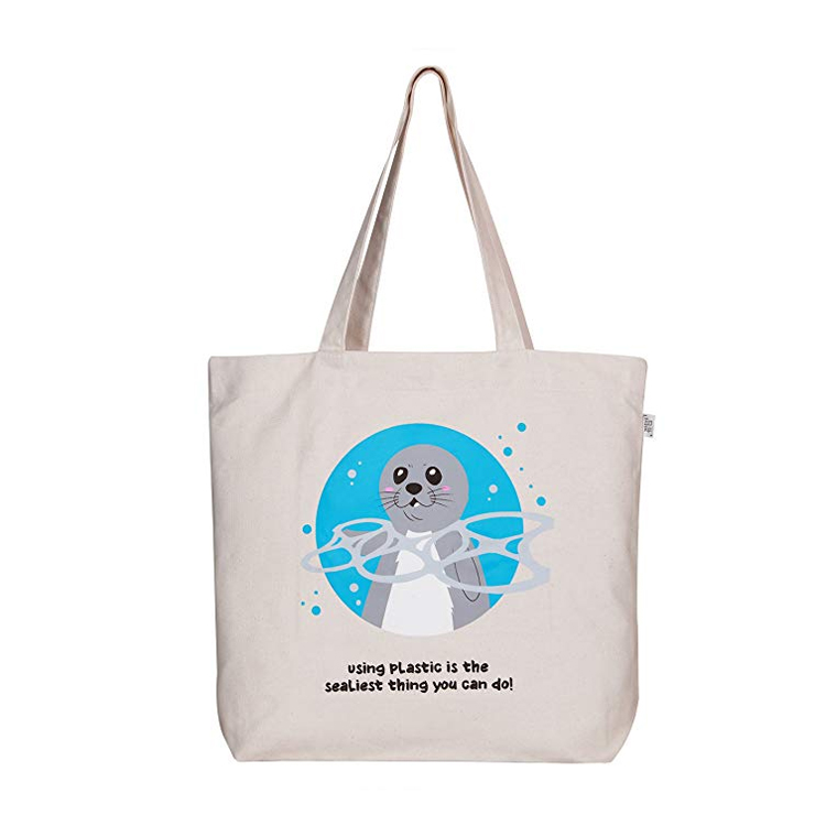 supermarket wholesale cheap reusable cotton tote shopping bag