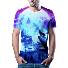 2020 самая популярная Футболка с волком/тигром, Мужская футболка с аниме, китайская футболка с 3d принтом, футболка классная в стиле хип-хоп, Му...(Китай)