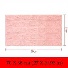 70X38 PE пенопластовая 3D настенная бумага безопасный домашний декор Обои DIY обои Кирпичная гостиная детская спальня декоративная наклейка(Китай)