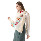 Embroider Scarf New Arrivals Embroider 100% Polyester Scarf For Women Shawl