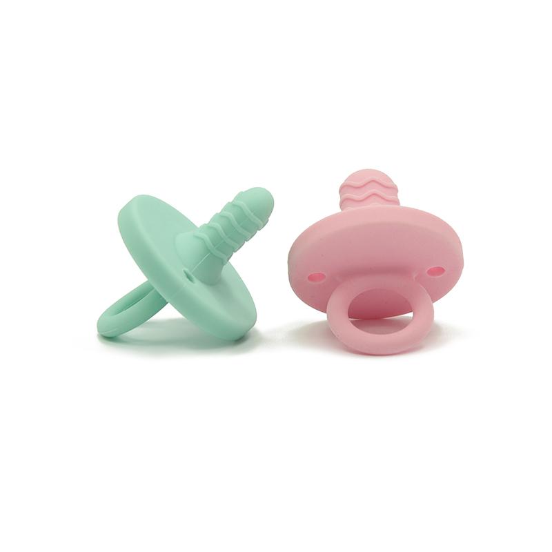 100% пищевой новые продукты нетоксичный BPA бесплатные силиконовые ребенка режутся зубы Соски-пустышки
