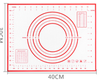 40x30cm-right ángulo rojo/negro