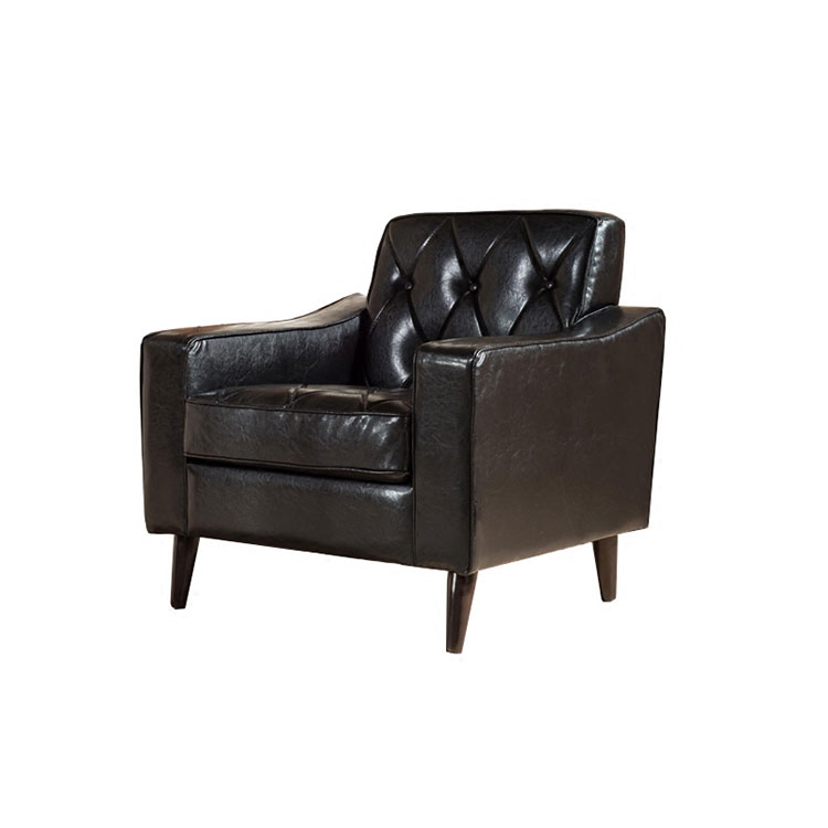 American new style restores ancient ways black leather art pulls buckle Nordic small family model is contracted contemporary lea