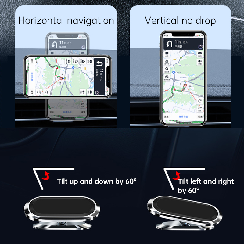 Custom 360 Rotation Portable Adjustable Strong Magnetic Car Mobile Phone Stand Mobile Phone Holders