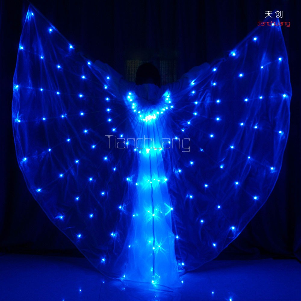 Led costumes Control Software,LED Butterfly belly dance,led light isis wings for dancing