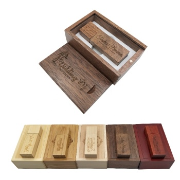 YONANSON Photography Customized Logo Wooden USB Gift Box USB Flash Drive USB 3.0 8GB 16GB 32GB Wedding Gifts