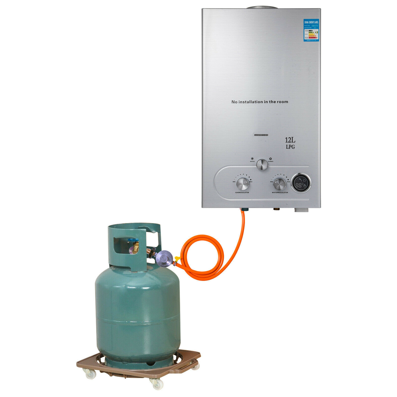 12L LPG Gas Water Heater Domestic Instant Tankless Propane Tankless Gas Water Heater