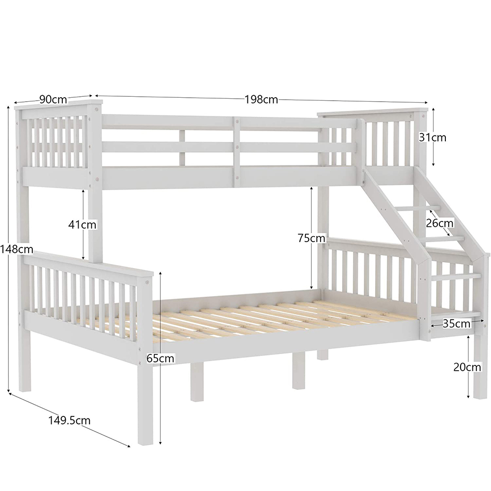 Solid Pine Wood Frame Triple Bunk Bed Buy Triple Bunk Beds Sale Cheap Wood Bunk Beds Adult Wood Bunk Bed Product On Alibaba Com