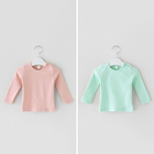 Baby Clothes Baby Clothes Supplier Kids Soft Organic Long Sleeve Baby T-shirt Clothes With Eco Friendly Baby Clothes