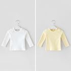 Organic Baby Clothes Organic Kids Soft Organic Long Sleeve Baby T-shirt Clothes With Eco Friendly Baby Clothes