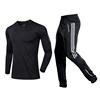 black shirt with black white pants
