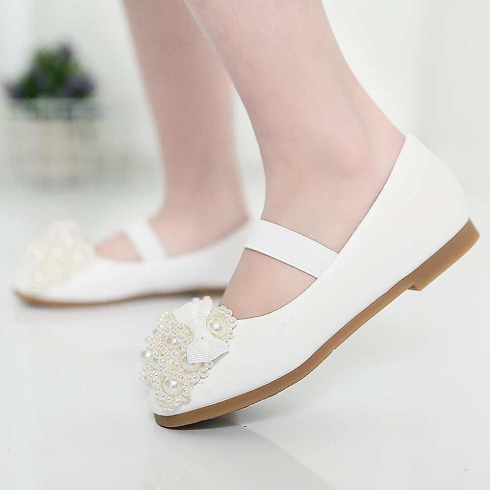 2021 Детские Свадебные вечерние туфли с жемчугом, детские туфли принцессы для девочек