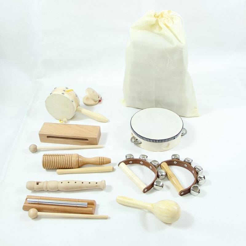 Wooden Music Set for Toddlers and Kids Eco Friendly Musical Set Wooden instrument Toy Set