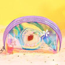 Кошелек для монет персикового цвета, новинка, милый кошелек, школьные принадлежности, Корейская сумка большой вместимости, каваи, детские п...(Китай)