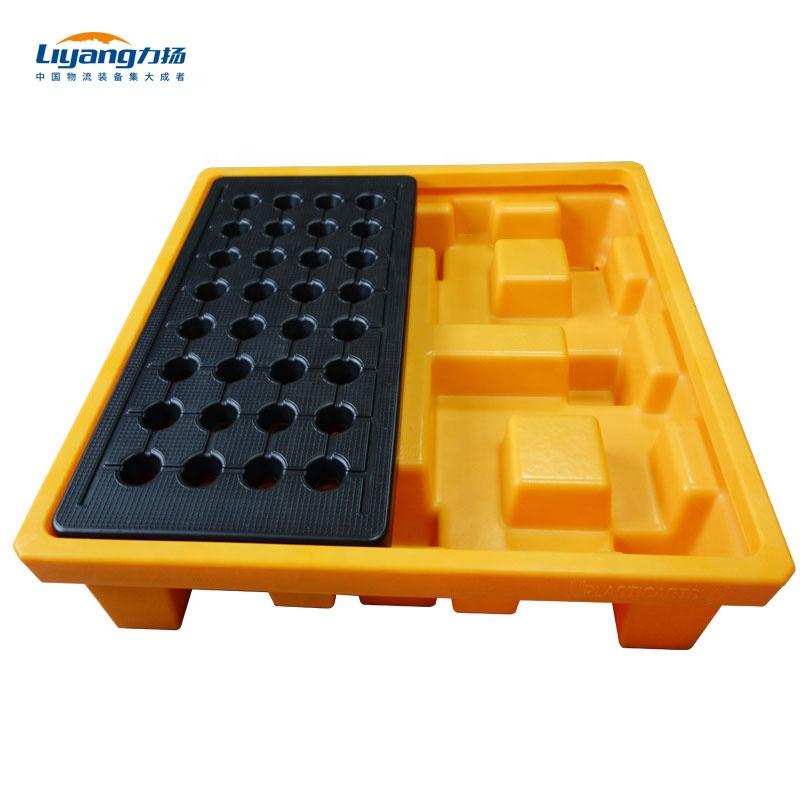 Detachable Plastic Spill Containment Pallet For 4 Drums