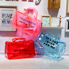 Silicone Handbag Transparent Handbag Jelly Bags Spinnanight Bag Custom PVC Colorful Silicone Make Up Hologram Handbag Girls Overnight Duffel Transparent Duffle Bags