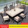 18-6 стул белый цвет керамическая плитка круглого стола 160 см