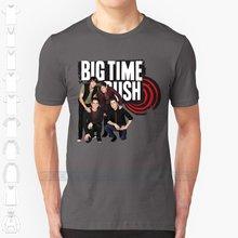 Мужская футболка с логотипом Big Time Rush, черная футболка в уличном стиле, с большим временем и музыкой, 2019(Китай)