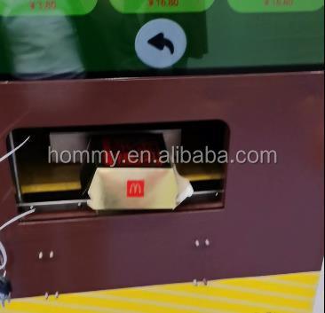 Умный торговый автомат для гамбургеров, торговый автомат для фаст-фуда, торговый автомат для цыплят, заводская цена Китая