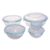 Nestable glass salad mixing bowl microwave oven safe 5pcs set with handle lid glass food storage container bowl