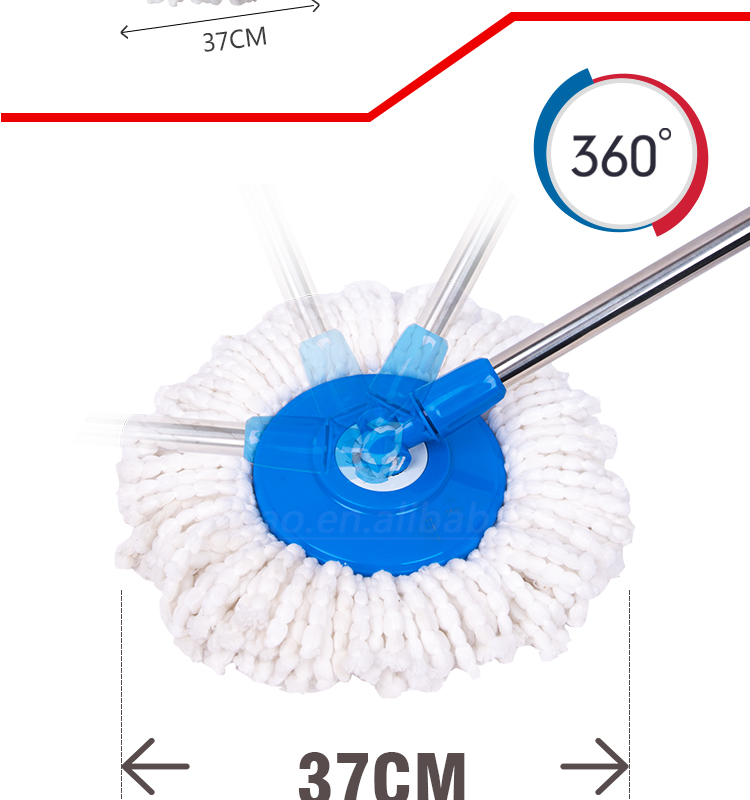 GST002 Kleaner 360 Microfiber Spin go mop bucket with drain plug in bottom